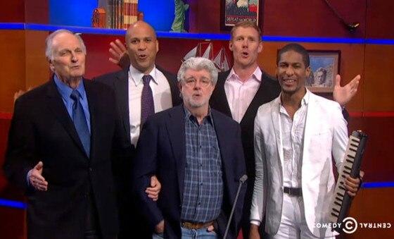 Colbert Report, George Lucas, Jon Batiste