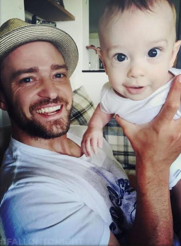 Justin Timberlake, Baby Silas, Jessica Biel