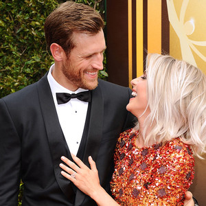 Brooks Laich, Julianne Hough, 2015 Creative Arts Emmy Awards