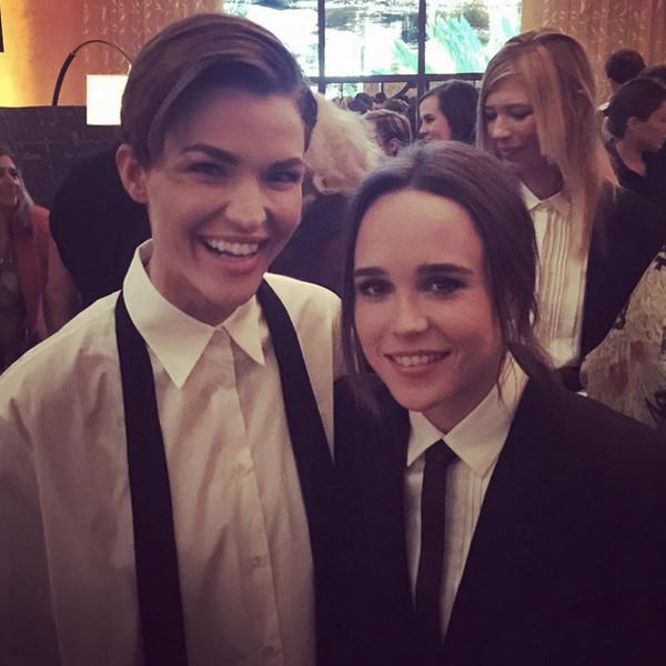 Ellen Page, Ruby Rose, Instagram