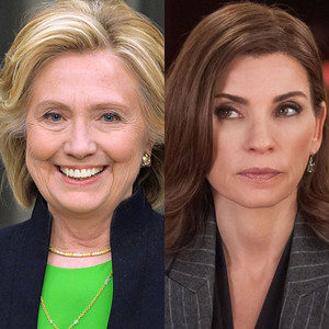 Hillary Clinton, Julianna Margulies, The Good Wife