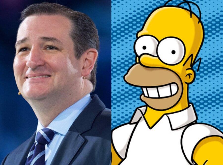 Ted Cruz, Homer Simpson
