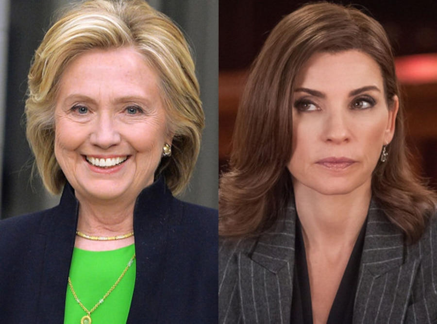 Hillary Clinton, Julianna Margulies, The Good Wife