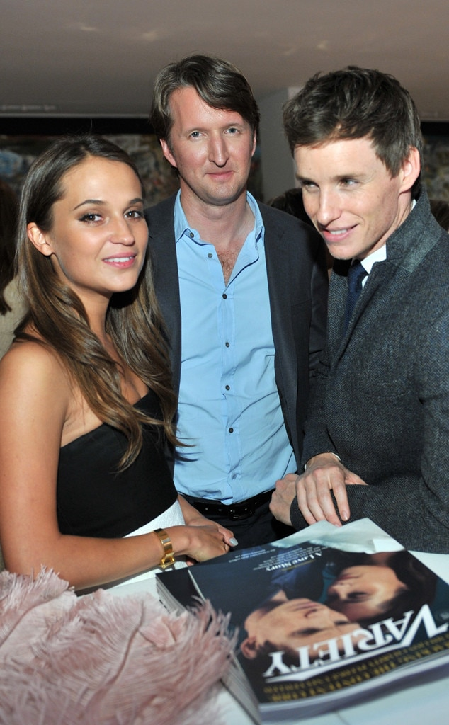Alicia Vikander, Tom Hooper and  Eddie Redmayne, TIFF