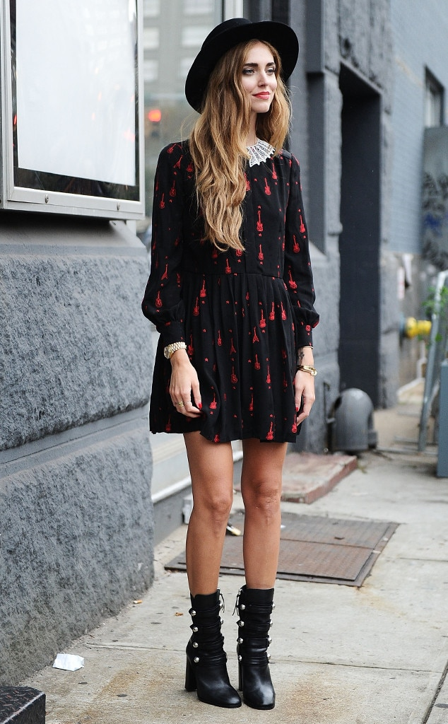Chiara Ferragni From Street Style At New York Fashion Week