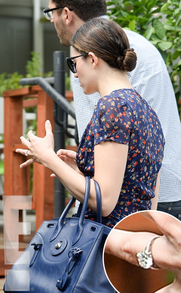 Emmy Rossum, Sam Esmail, Engagement Ring, Exclusive