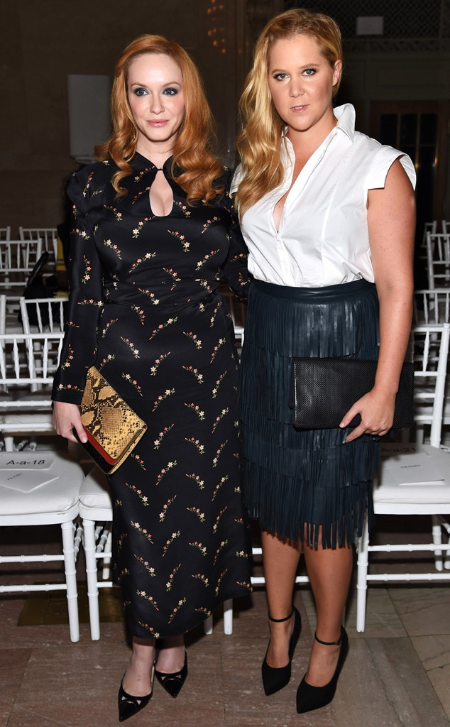 Amy Schumer, Christina Hendricks, NYFW