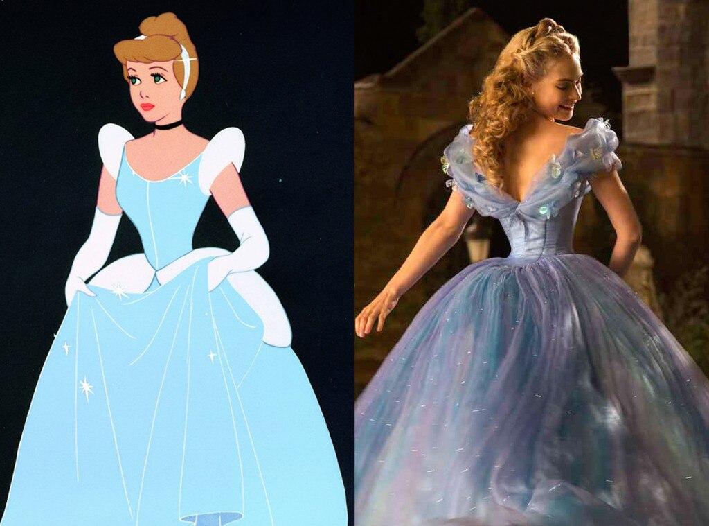 Cinderella, Animated Disney vs. Live Action Disney