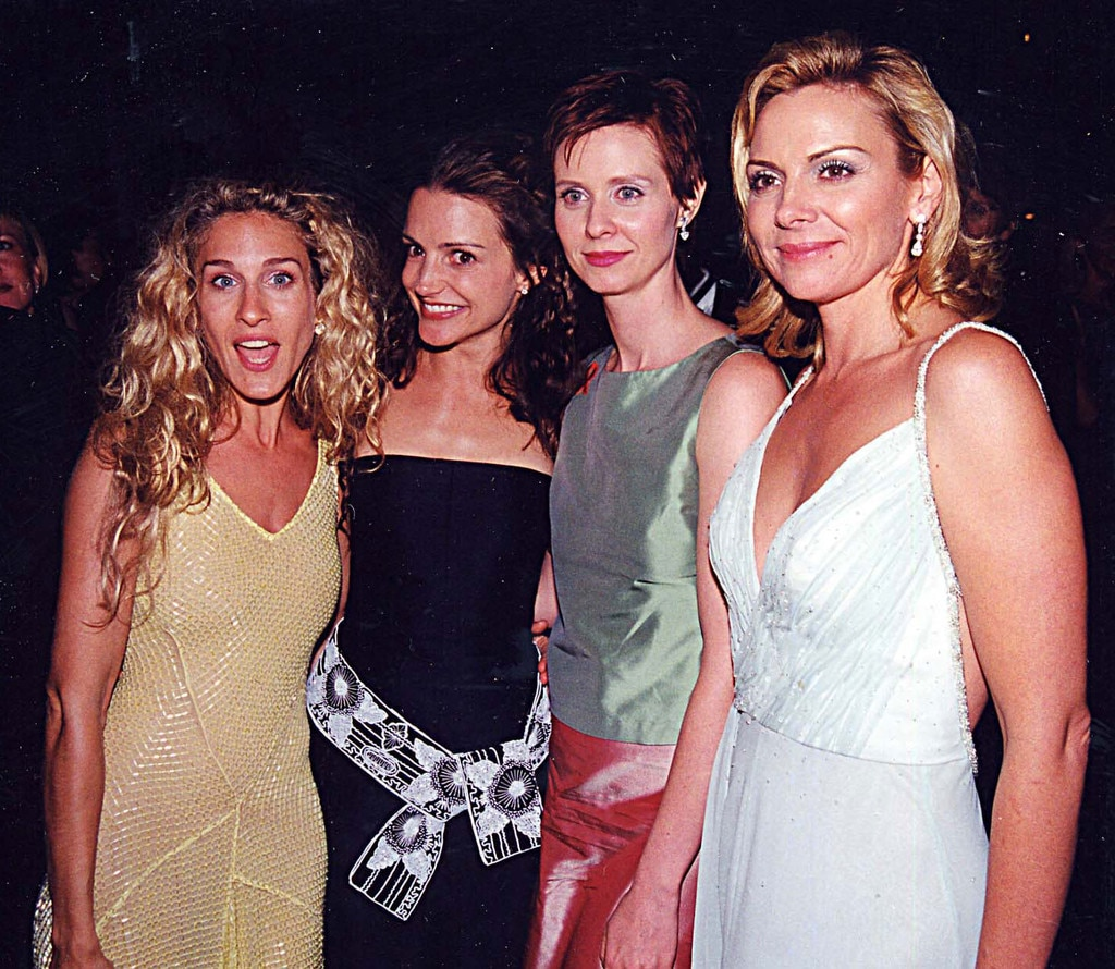 Emmy Cast Flashbacks, Sarah Jessica Parker, Kristin Davis, Cynthia Nixon and Kim Cattrall, 1999