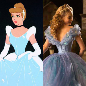 Cinderella, Animated Disney vs. Live Action Disney