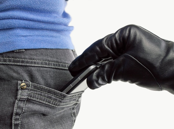 Skinny Jeans, Cell Phone Pocket Thief