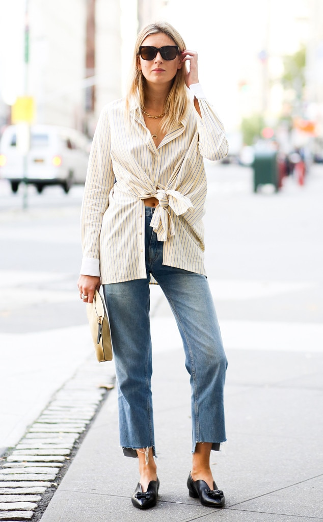 Camille Charriere From Street Style At New York Fashion