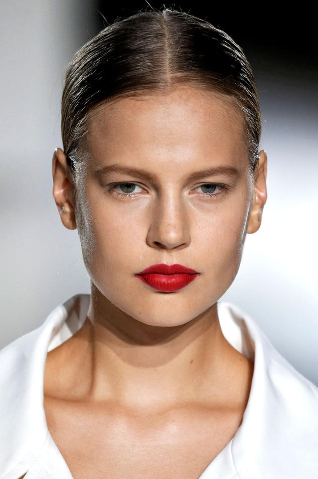 Zac Posen, red lips, NYFW