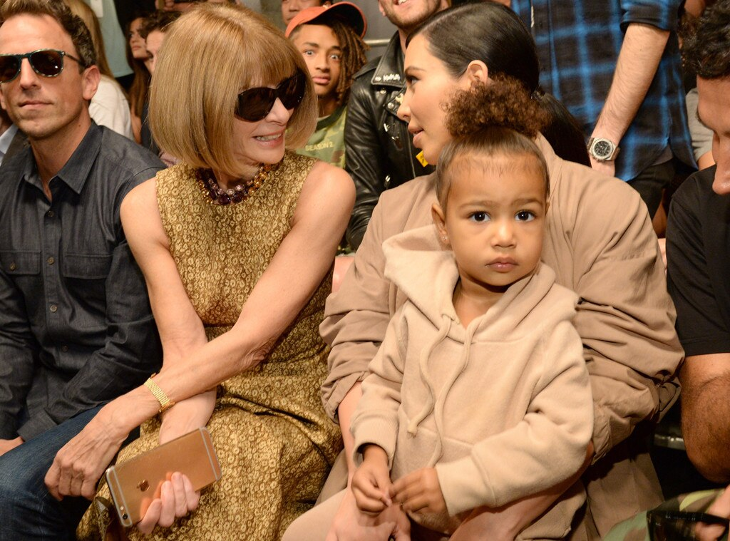 Anna Wintour, Kim Kardashian West, North West, Yeezy, NYFW