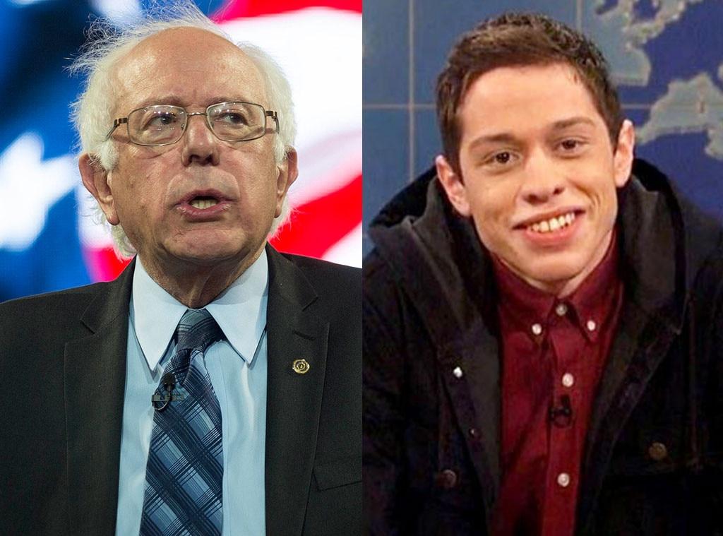 Bernie Sanders, Pete Davidson