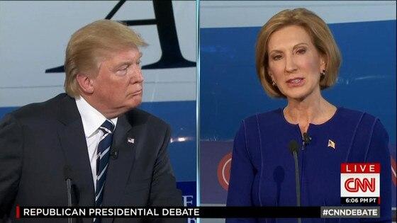 Trump-Fiorina GOP Debate 2