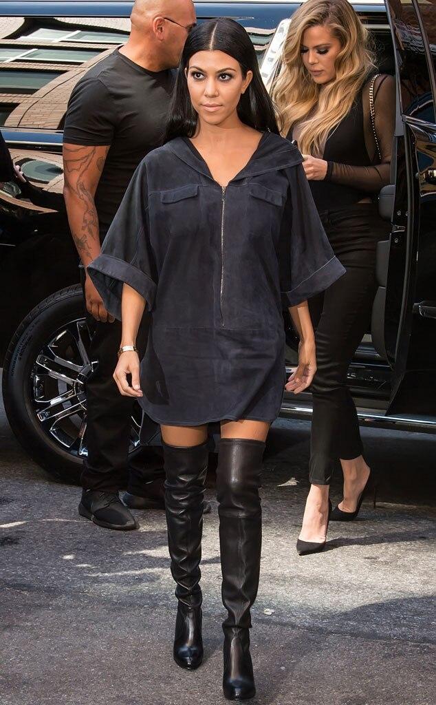 Kourtney Kardashian From Stars At New York Fashion Week
