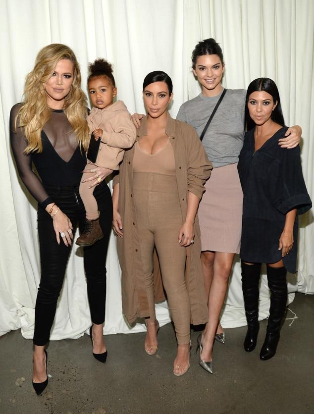 Khloe Kardashian, North West, Kim Kardashian West, Kendall Jenner, Kourtney Kardashian, Yeezy, NYFW
