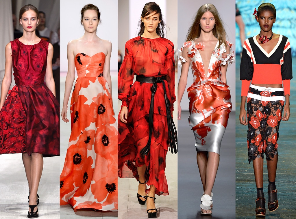 Red Florals From Biggest Trends At New York Fashion Week
