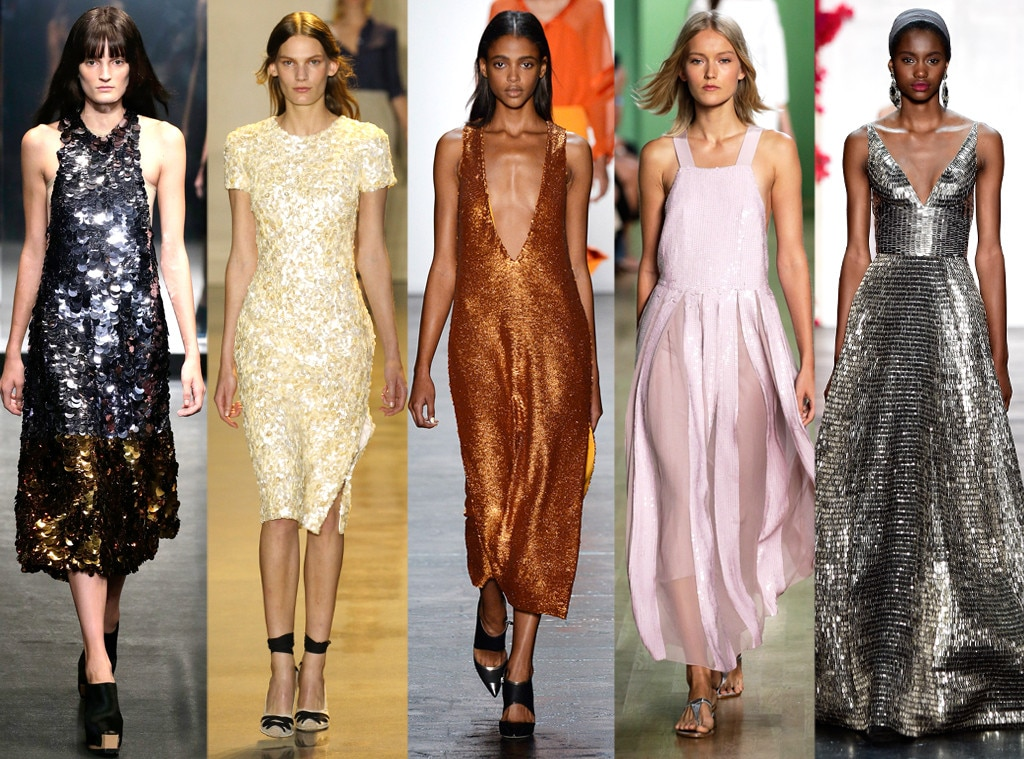 Layered Sequins from Biggest Trends at New York Fashion ...