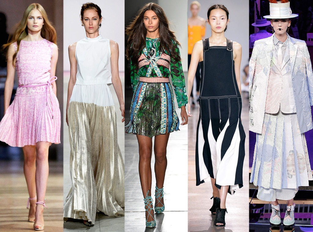 Chic Pleating From Biggest Trends At New York Fashion Week