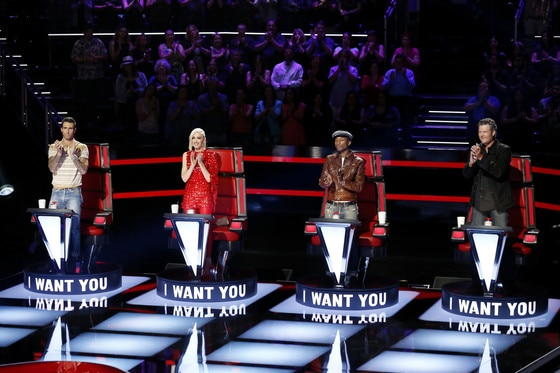 The Voice, Season 9, Adam Levine, Gwen Stefani, Pharrell Williams, Blake Shelton