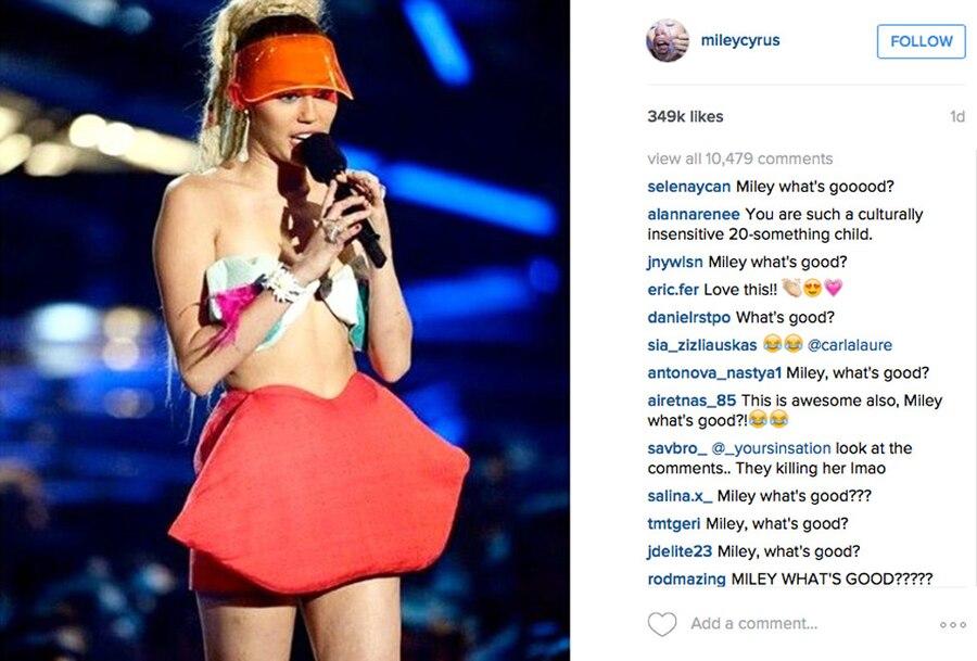 Miley Cyrus, VMAs, Instagram