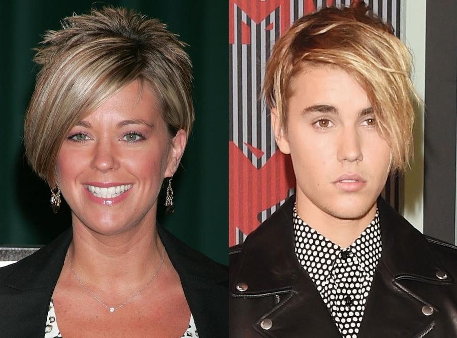 Kate Gosselin Reacts To Justin Bieber VMAs Hairstyle Comparisons - Justin bieber new hairstyle vma