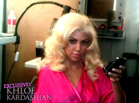 Kourtney Kardashian Blond