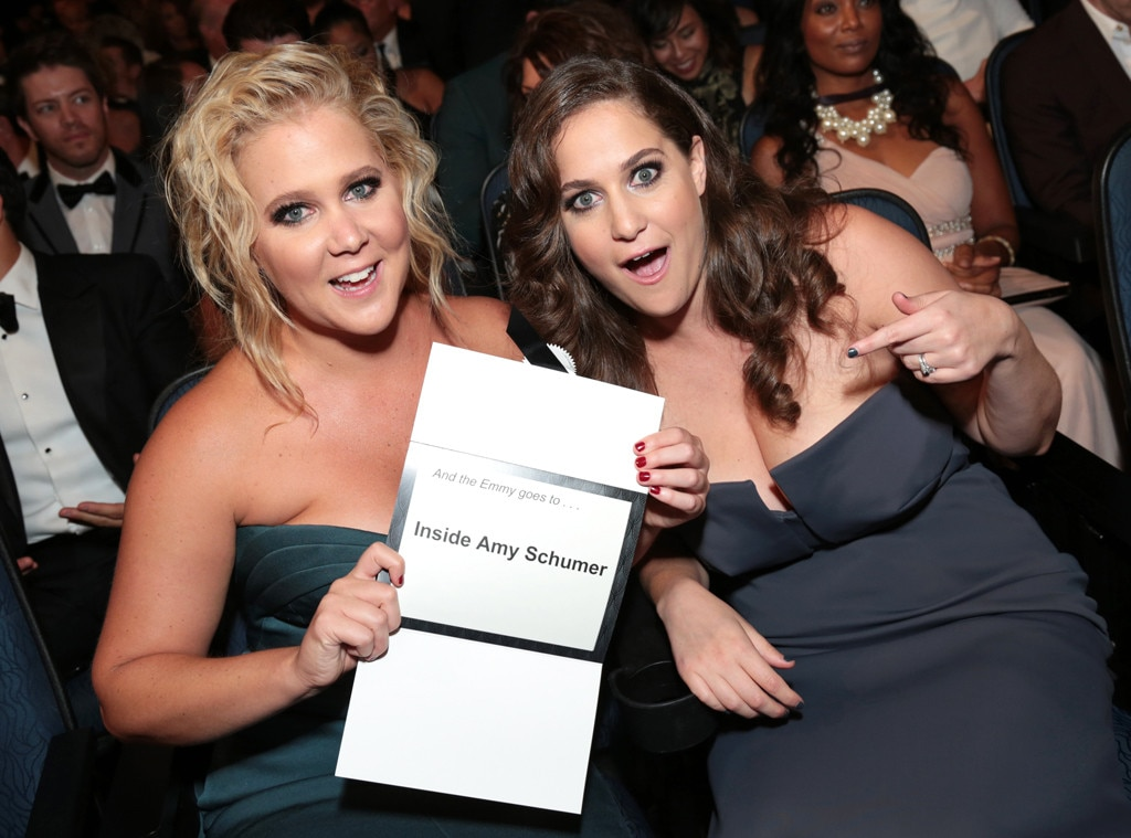 Amy Schumer, Kim Caramele, Emmy Awards 2015, Candids