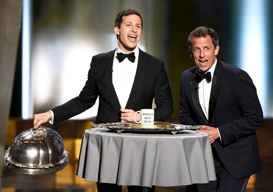Andy Samberg, Seth Meyers, Emmy Awards 2015, Show