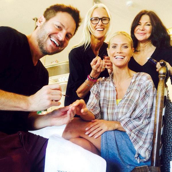 Heidi Klum, Emmys Twitpics