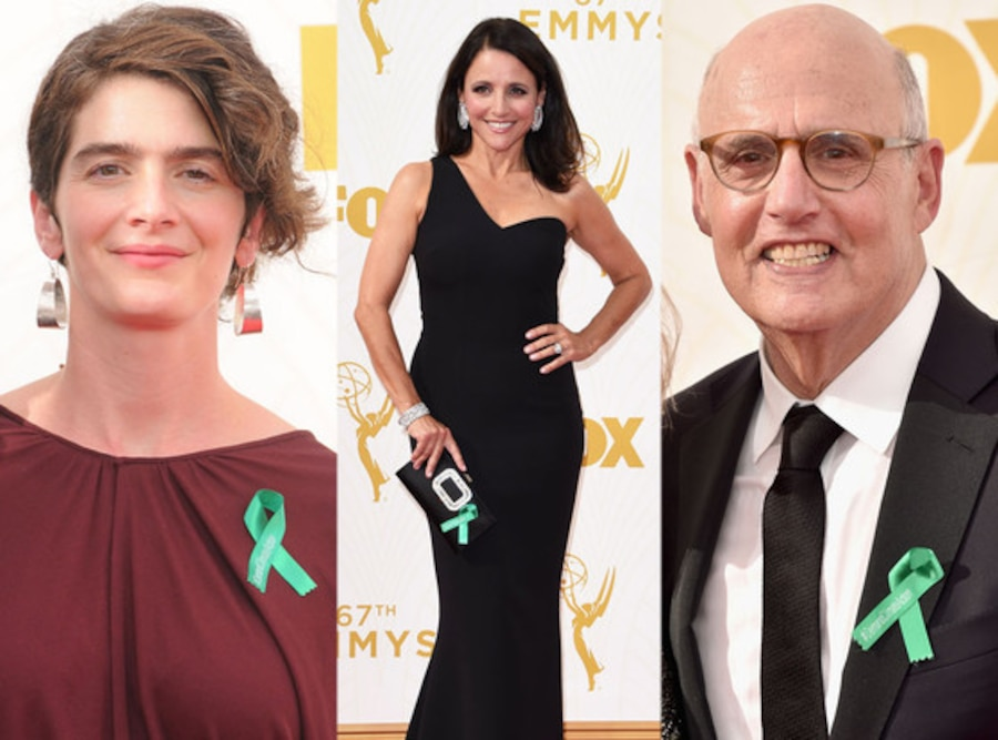 Jeffrey Tambor, Gaby Hoffmann, Julia Louis-Dreyfus, Green Ribbons, Emmy Awards 2015