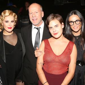 Emma Heming, Rumer Willis, Bruce Willis, Tallulah Belle Willis, Demi Moore, Scout LaRue Willis