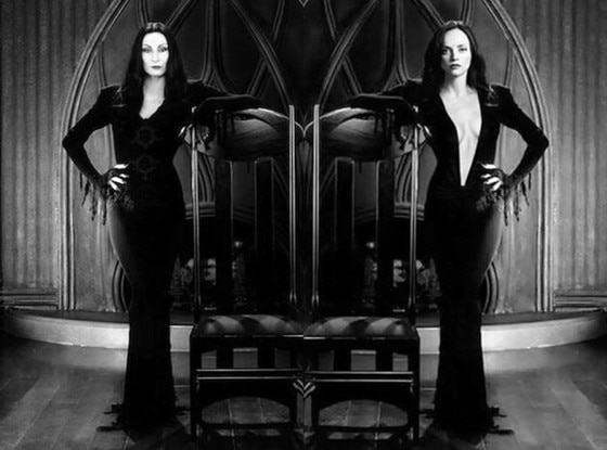 Anjelica Huston, Christina Ricci, Addams Family