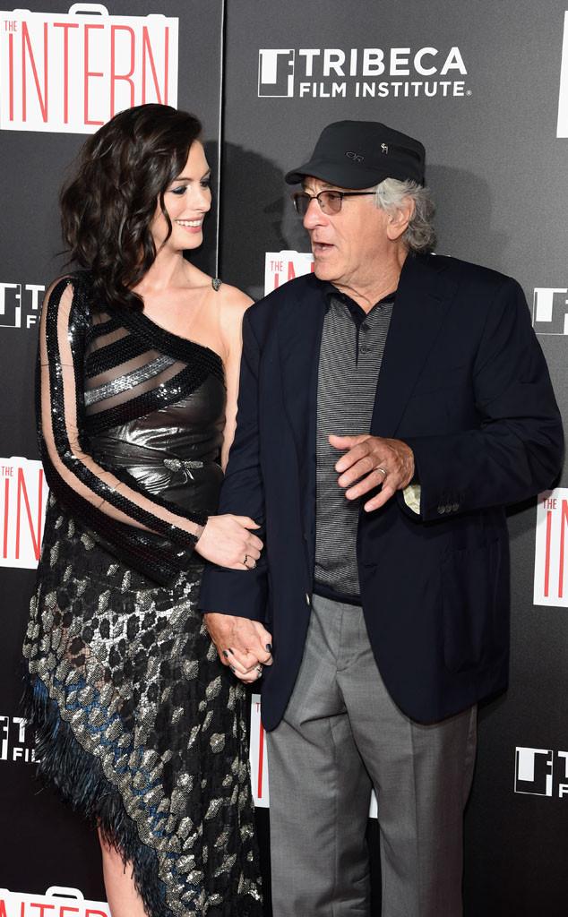 Anne Hathaway Robert De Niro Movie: Anne Hathaway & Robert De Niro From Movie Premieres: Red