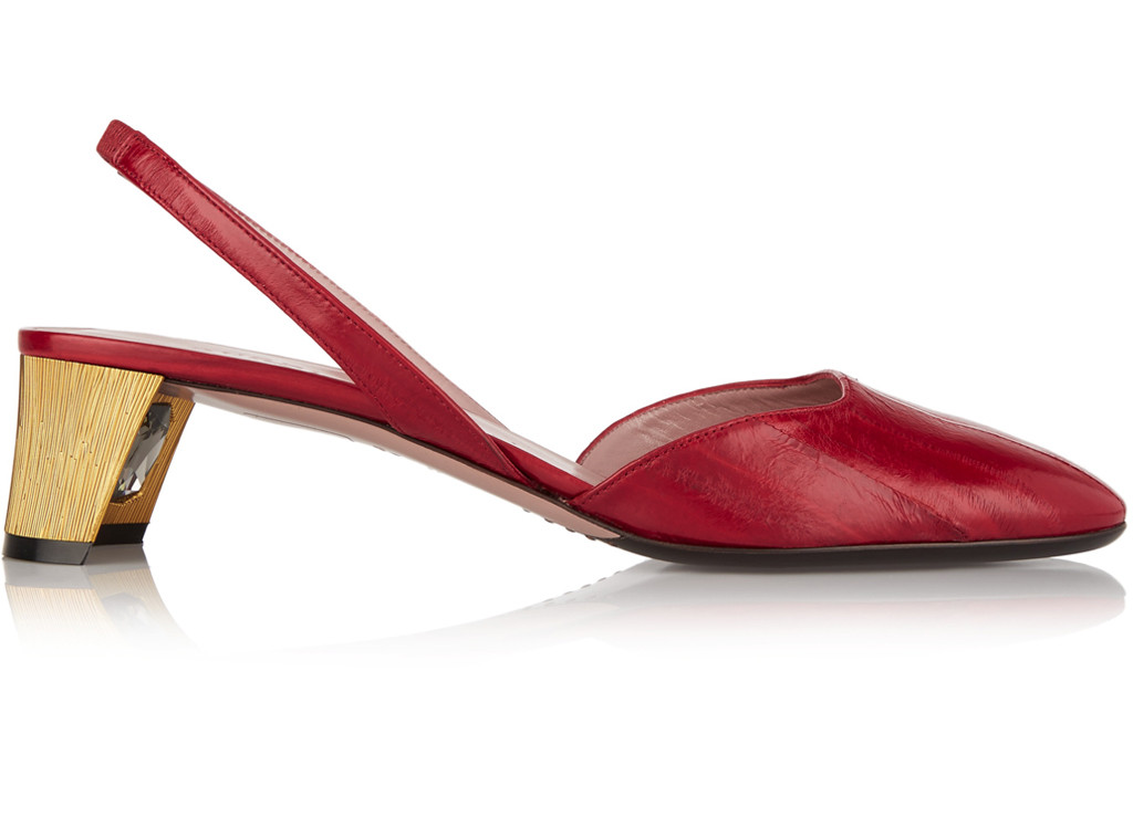 Gucci Arielle Swarovski crystal-embellished eel slingback ...