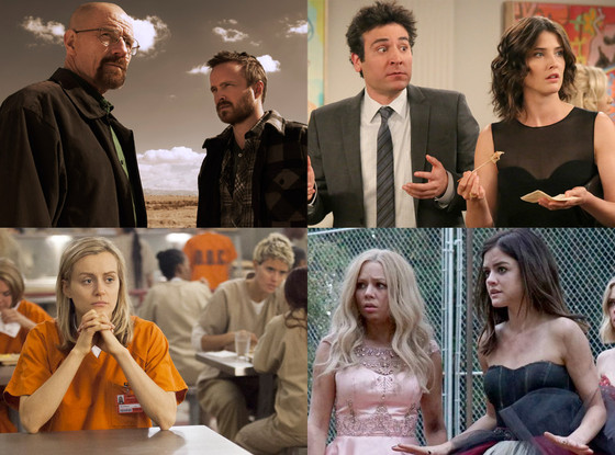 Netflix, Breaking Bad, Orange Is the New Black, How I Met Your Mother, Pretty Little Liars