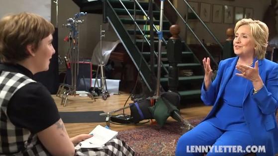 Lena Dunham, Hillary Clinton, Lenny Letter