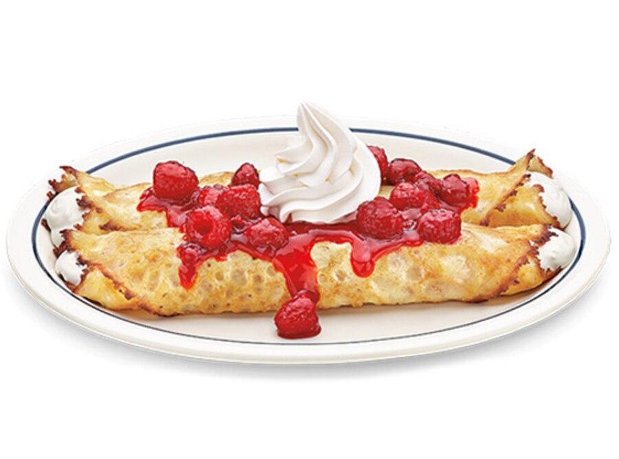 420 Foods, IHOP Fruit 'N Streusel Sweet Cream Cheese Crepe