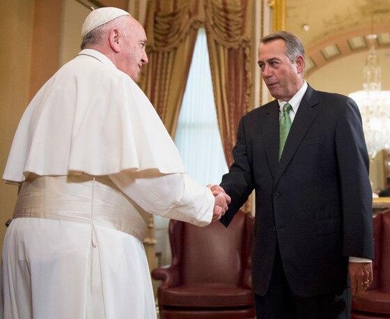 John Boehner, Pope Francis