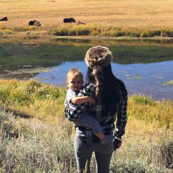 Kourtney Kardashian, Reign Disick, Instagram, Yellowstone Park