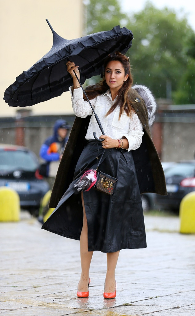 Rain Rain Go Away From Street Style At Milan Fashion Week Spring 2016 E News