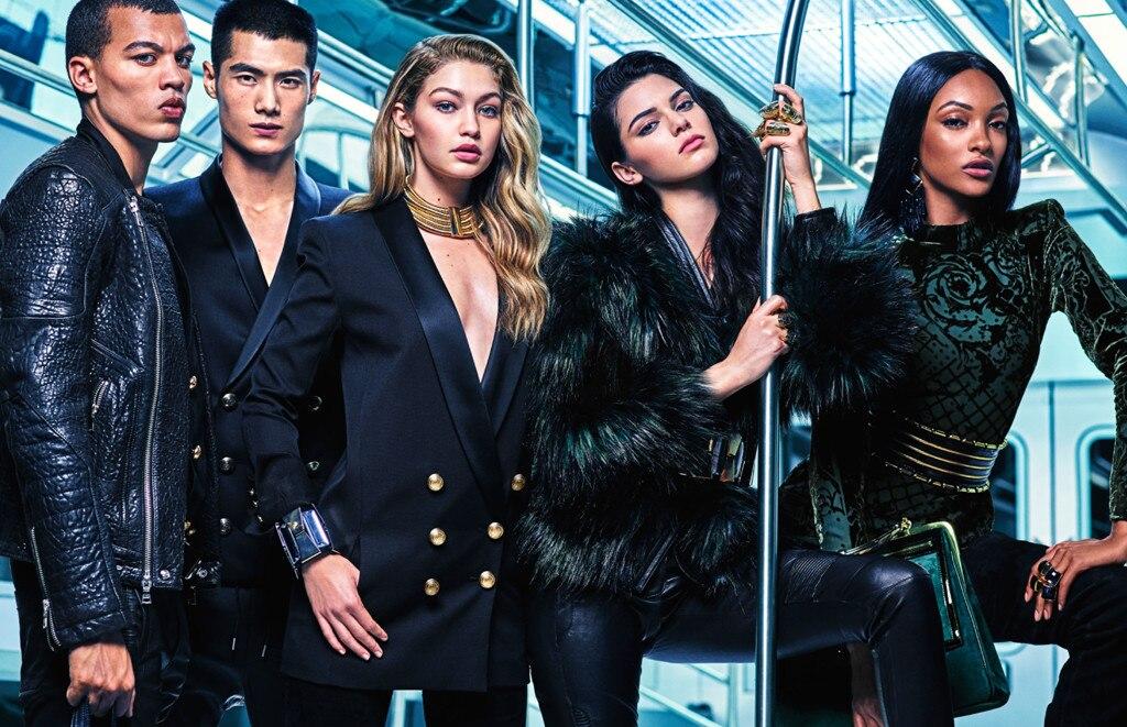 Balmain x H&M, Gigi Hadid, Kendall Jenner