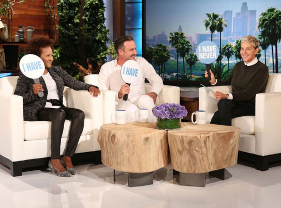 Wanda Sykes and David Arquette join Ellen DeGeneres for a game of Never Have I Ever