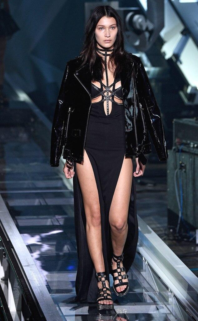 Bella Hadid Style Philipp Plein, Milan F...