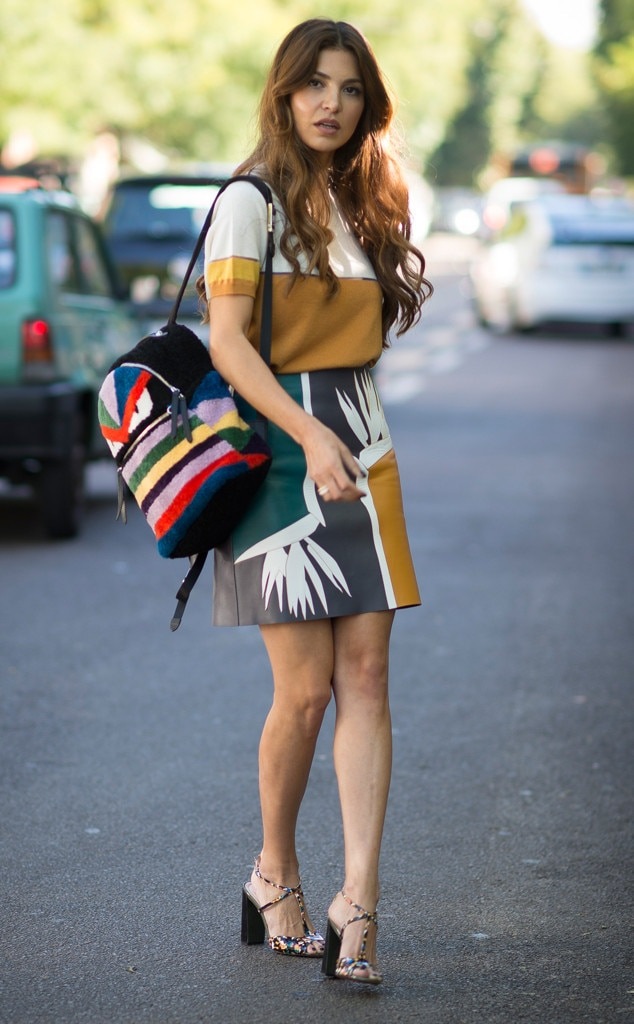 Backpack Best From Street Style At Milan Fashion Week Spring 2016 E News