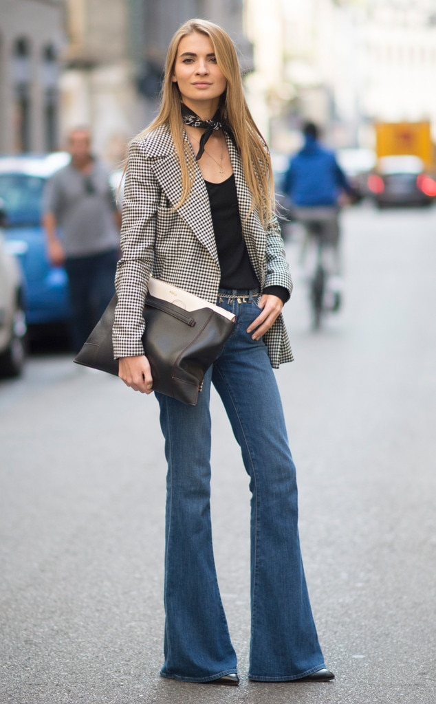 Bell Bottomed Out From Street Style At Milan Fashion Week Spring 2016 E News