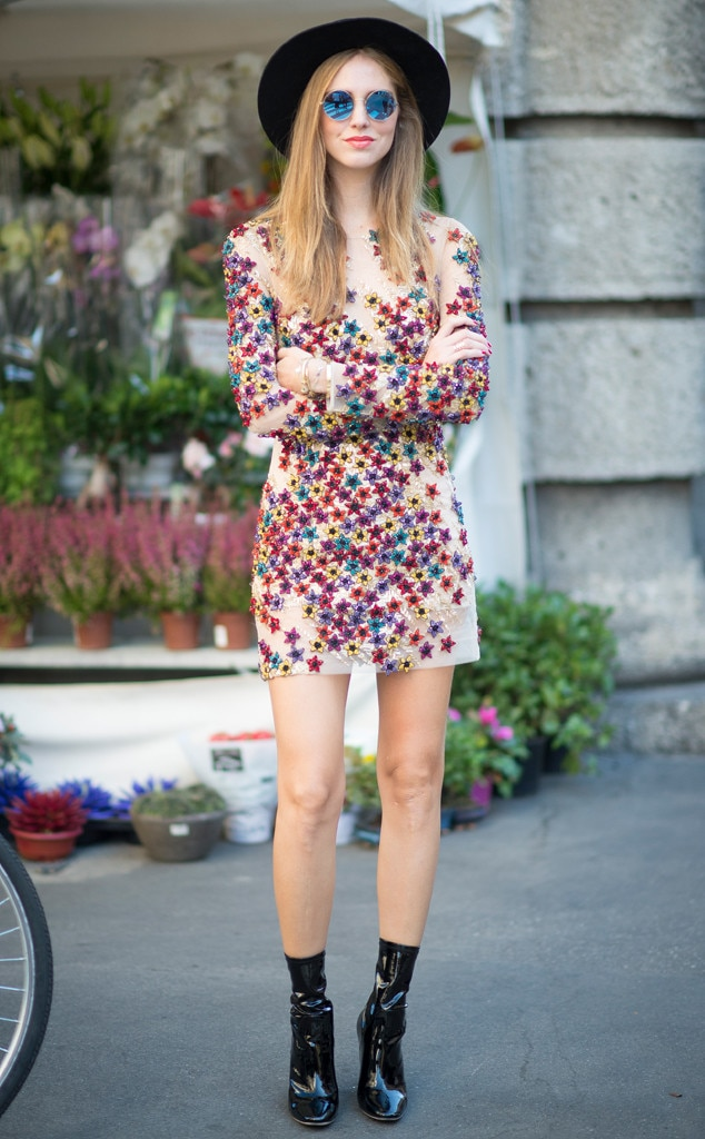 Chiara Ferragni From Street Style At Milan Fashion Week Spring 2016 E News