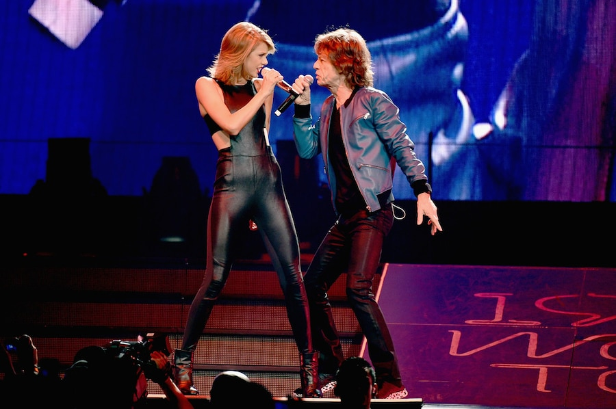 Taylor Swift Concert, Mick Jagger